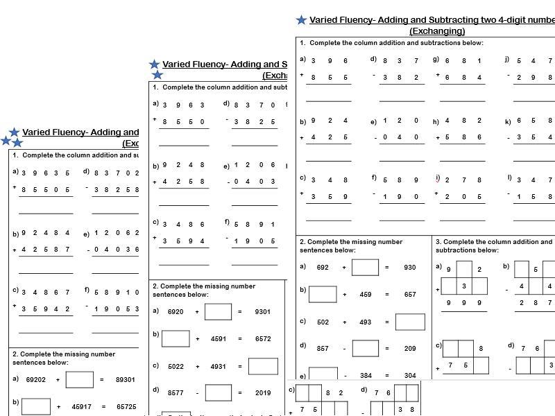 Math Worksheets Year 4 1