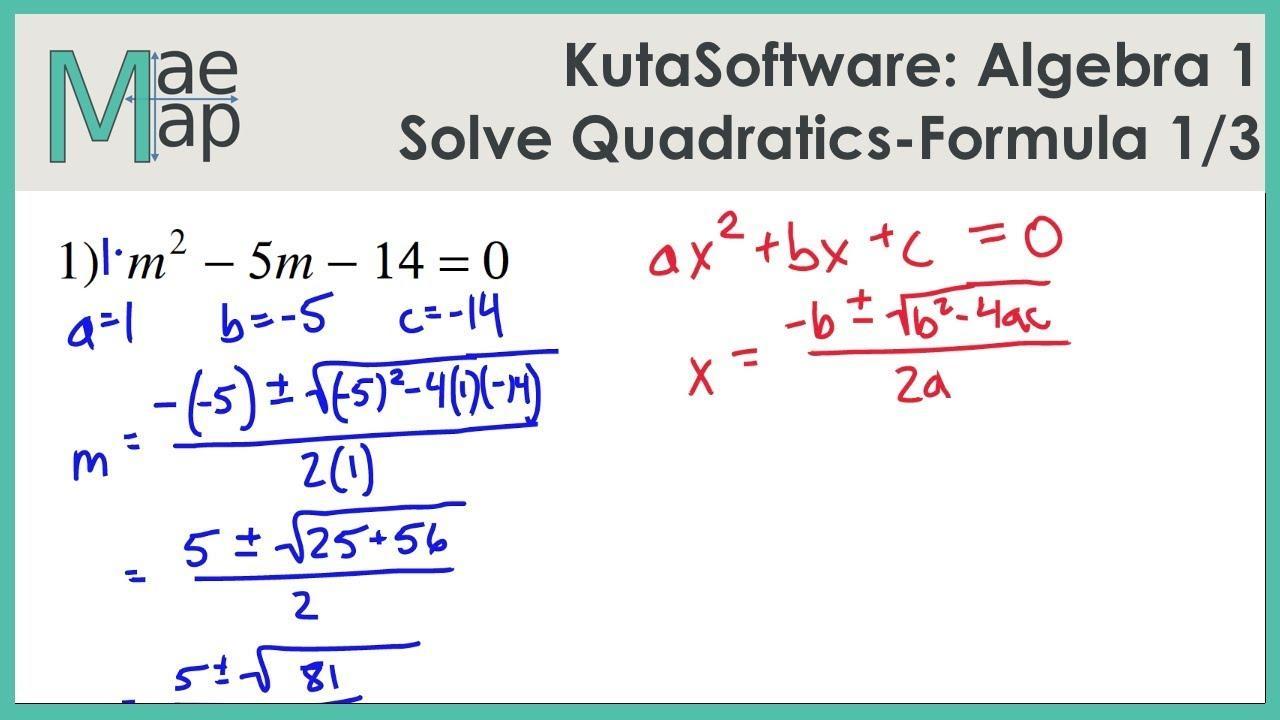 Algebra 2 Graphing Quadratic Equations Worksheet Answers