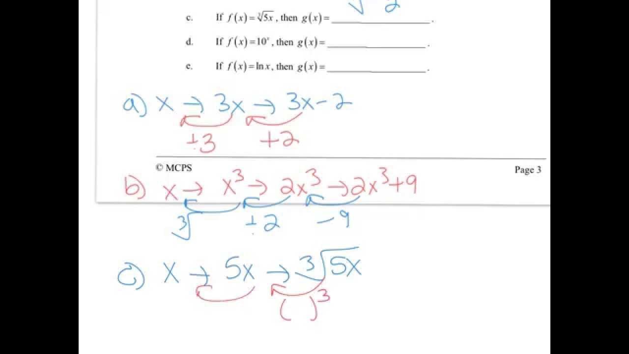 Algebra 2 Honors Logarithms Worksheet