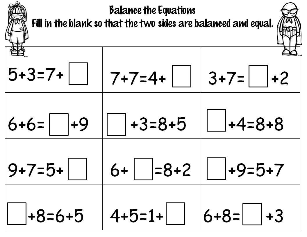 Algebra Equations Worksheets Printable