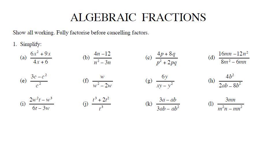 Algebra Lesson Ks3