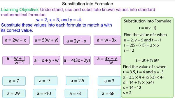 Algebra Substituting Values Worksheets 3