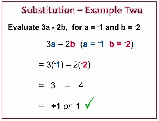 Algebra Substituting Values Worksheets 8