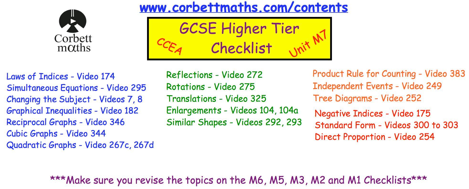 Algebra Worksheets Corbett Maths 3