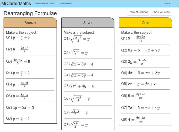Algebra Worksheets Corbett Maths 5