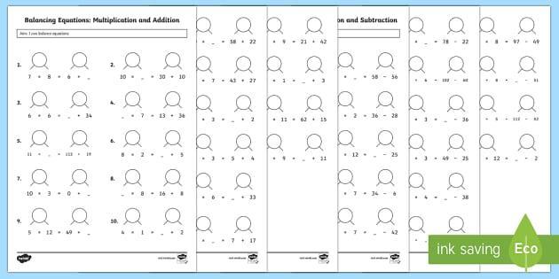 Algebra Worksheets For Grade 6 Cbse