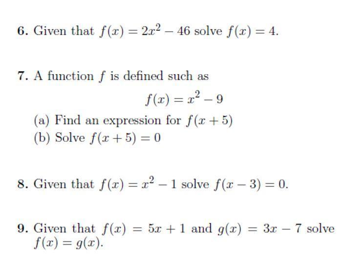 Algebra Worksheets Igcse 4