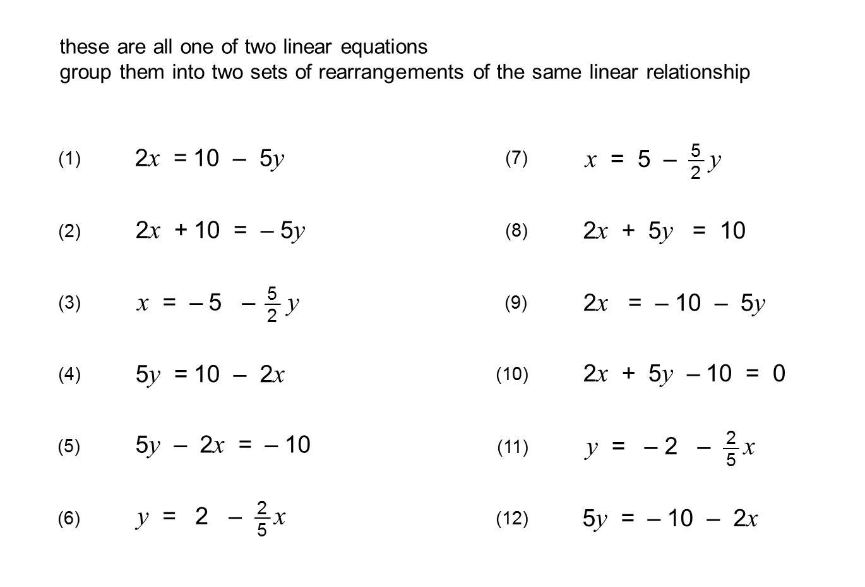 Algebra Worksheets Rearranging Equations 2