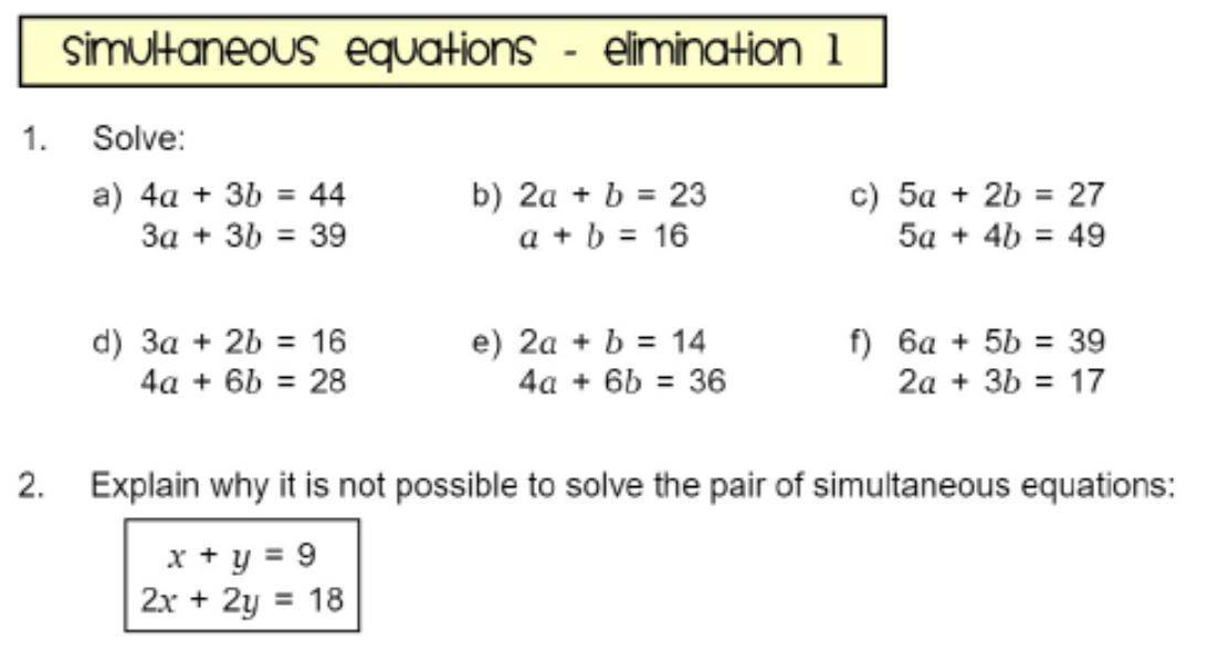 Algebra Worksheets Rearranging Equations 7