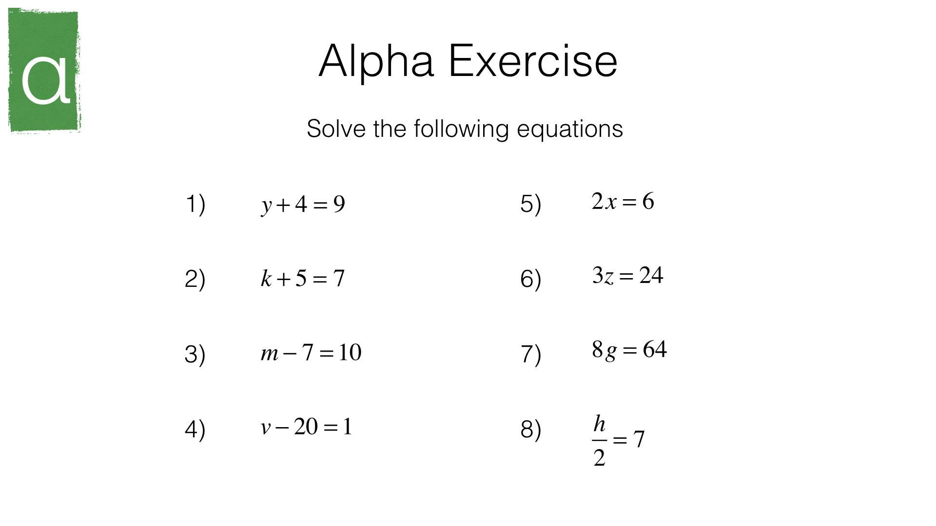Pre Algebra Easy Worksheets