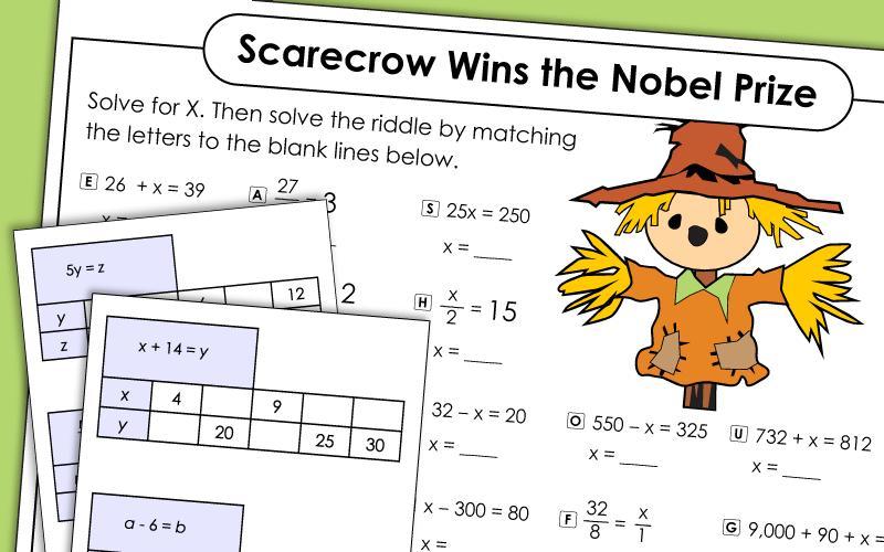 Simple Algebra Worksheets Year 6