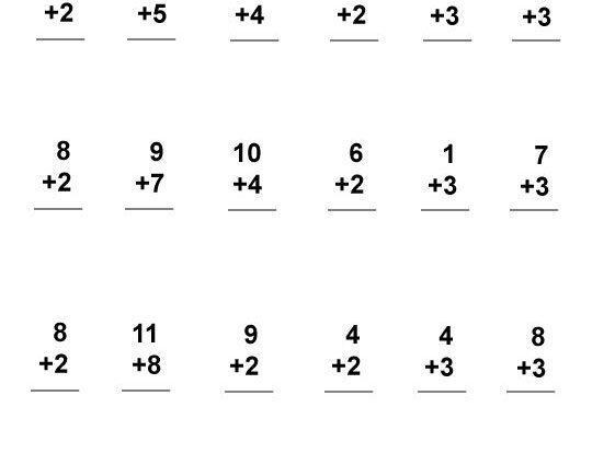 1st Grade Addition Worksheets 1