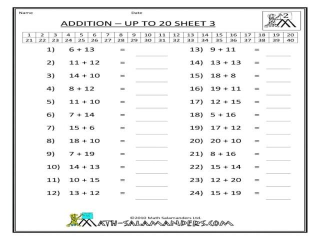 1st Grade Addition Worksheets With Pictures