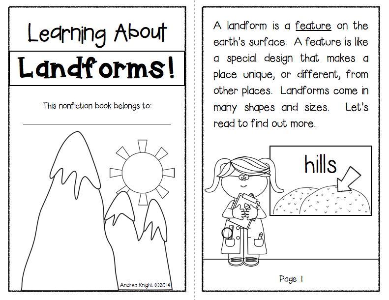 1st Grade Landforms Worksheets 4