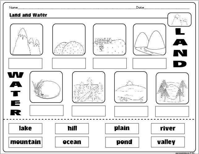 1st Grade Landforms Worksheets 5