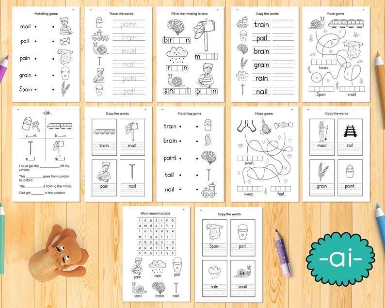 1st Grade Level 1 Phonics Worksheets