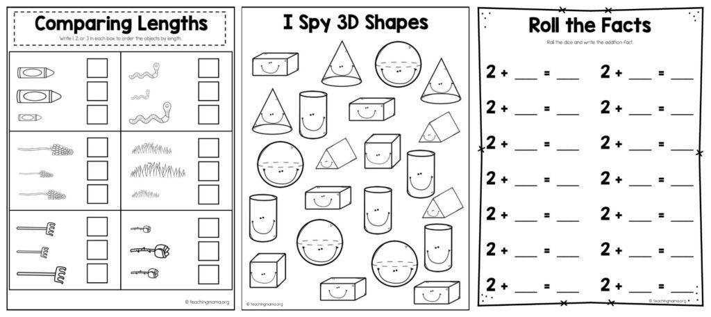 1st Grade Math Worksheets Pdf Packet
