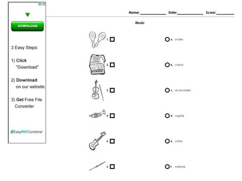 1st Grade Music Theory Worksheets