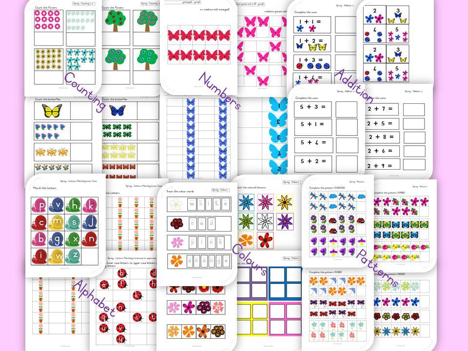 1st Grade Worksheet Bundle 7