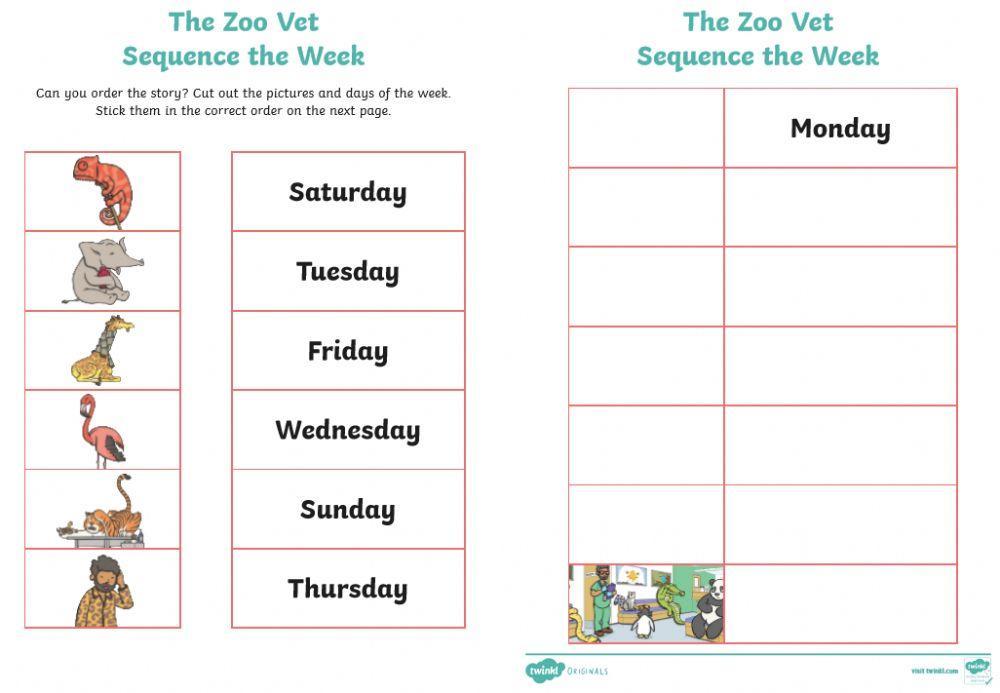 English Worksheets Zoo Animals 7