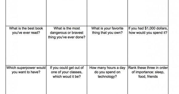First Grade Icebreaker Worksheets 8