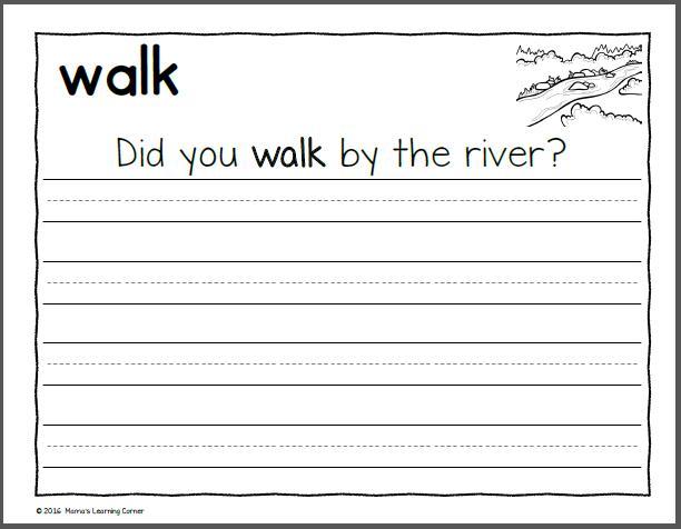 First Grade Letter Practice Worksheets