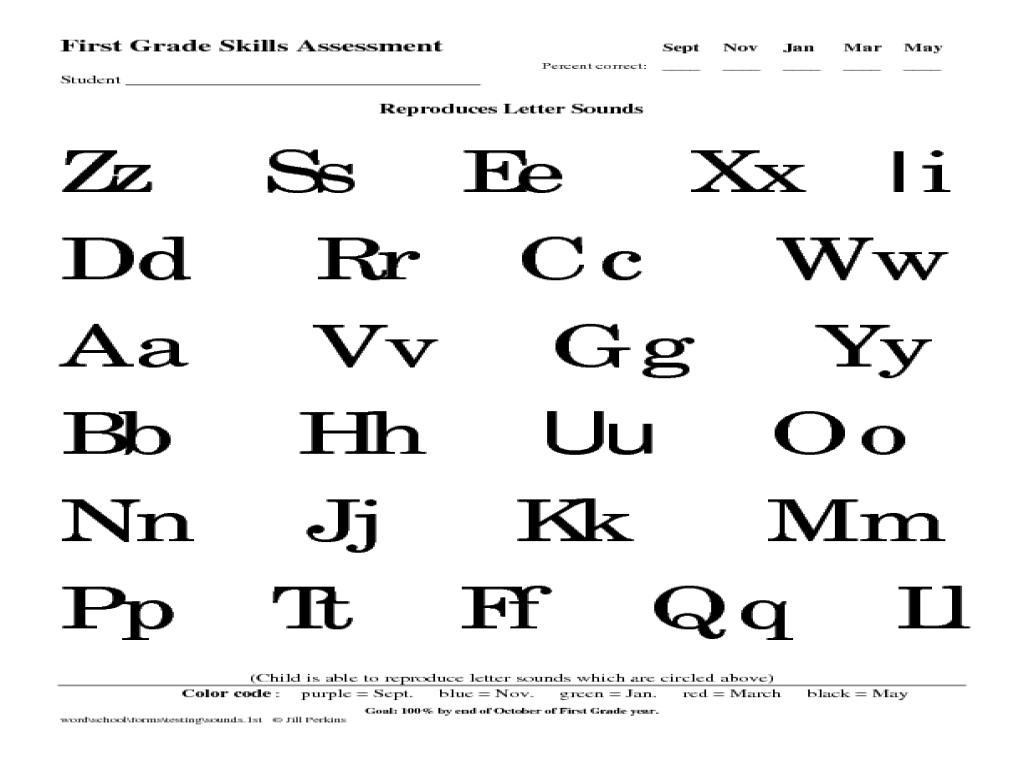 First Grade Letter Recognition Worksheets