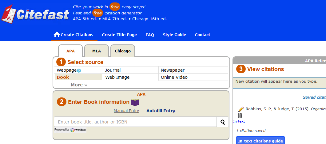 bibliography makers Automatic works cited and bibliography formatting for mla, apa and chicago/ turabian citation styles now supports 7th edition of mla.