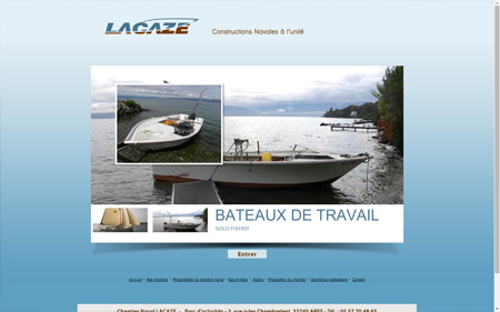 création site internet chaniter navale lacaze à ARES bassin Arcachon