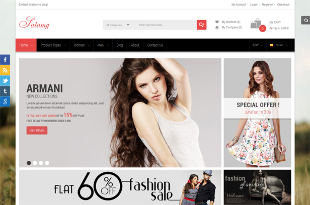 Love Fashion- Boxed and Wide layout