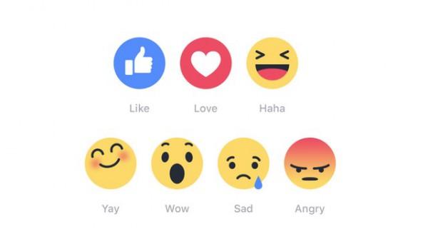 Facebook : arrivano le 6 Reactions