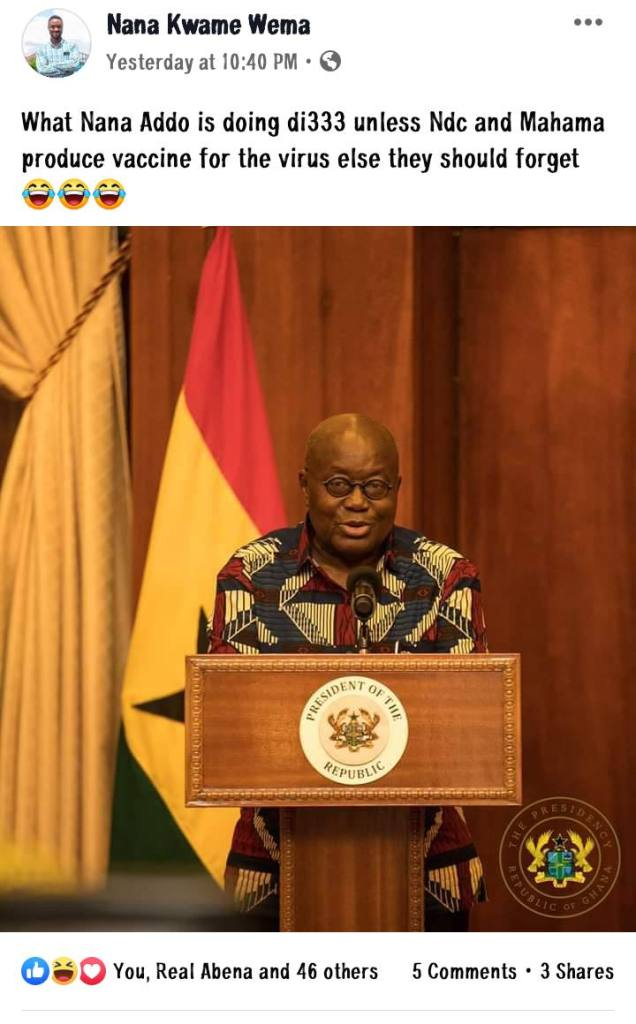 Ghanaians troll Mahama after Akufo-Addo's lockdown packages