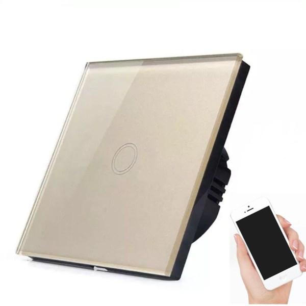 сензорен ключ WiFi златист единичен