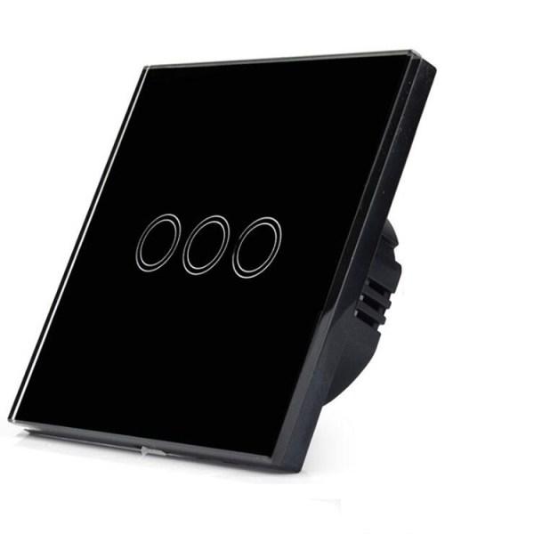 смарт WiFi сензорен ключ троен черен