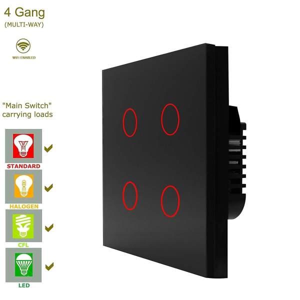 сензорен ключ с WiFi свързаност 4 бутона