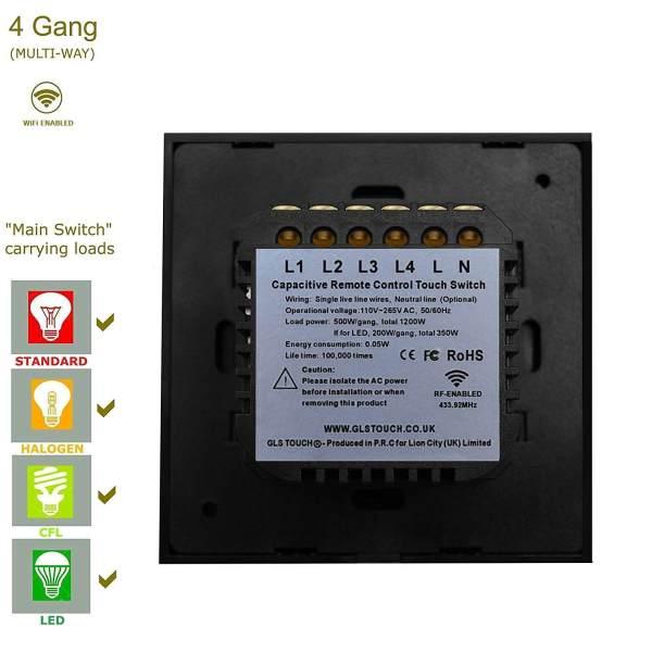 свързване на сензорен ключ към електрическата мрежа