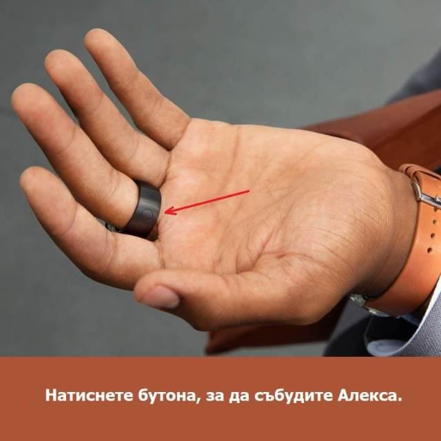бутон на амазон пръстен echo loop