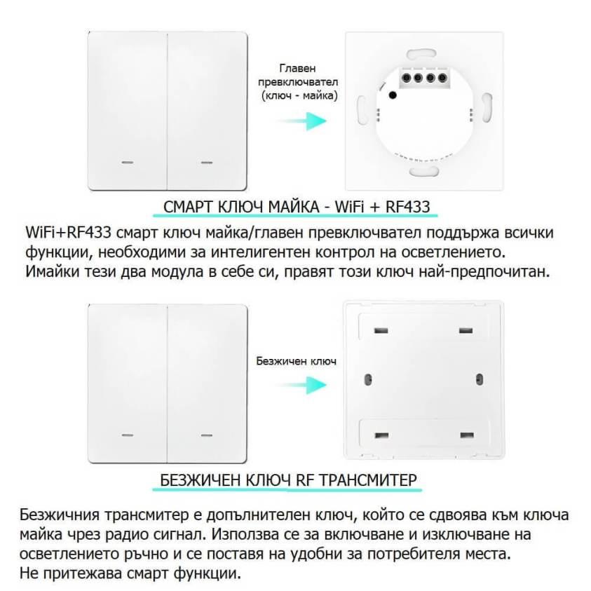 Wifi механичен ключ майка и безжичен двоен