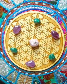 Crystal Grid Plate, Flower of Life