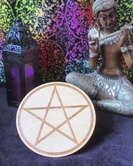 Crystal Grid Plate, Pentacle, Pentagram