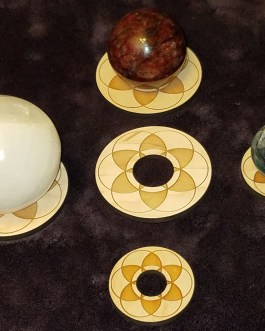 Gemstone Sphere Holder, Seed of Life