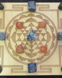 Crystal Grid Plate, Sri Yantra Square