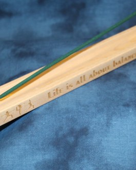 """Incense Holder Engraved with """"Life Is All About Balance"""""""