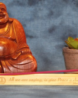 """Incense Holder Engraved """"All We Are Saying Is Give Peace A Chance"""" by John Lennon"""