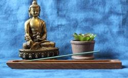 Incense Holder, Tornillo wood, Flat design