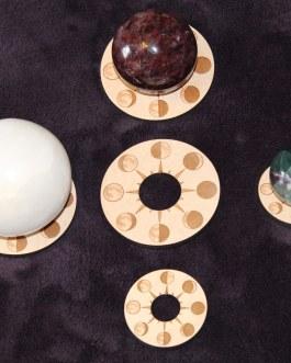 Gemstone Sphere Holder, Moon Phases