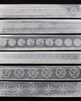 Selenite Wands, Engraved