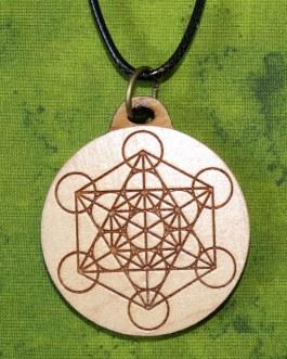 Wooden Pendant, Metatron's Cube