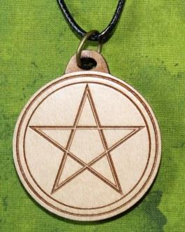 Wooden Pendant, Pentacle