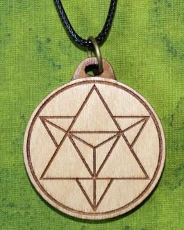 Wooden Pendant, Star Tetrahedron